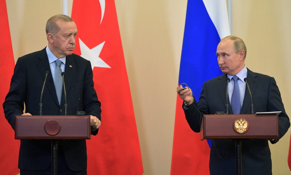 Vladimir Putin and Erdogan