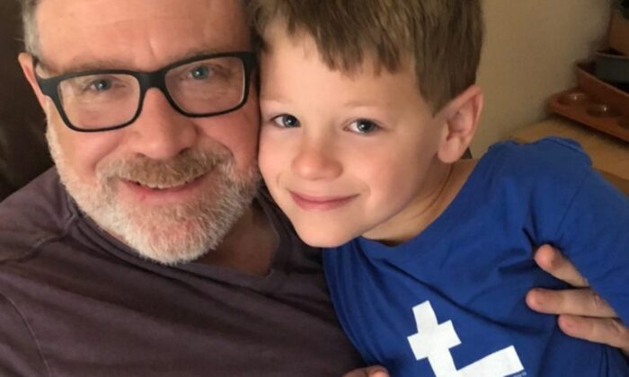 Jeff (L) and seven-year-old James Younger. In a highly publicized legal battle, Jeff Younger, who opposes the transition of James, won joint custody on Oct. 24. (courtesy of the website SaveJames.com)