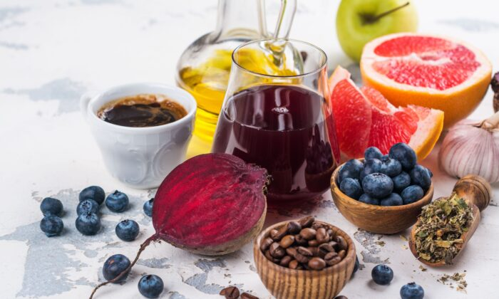 Antioxidant-rich foods like blueberries, citrus fruits, and nuts all support the liver in multiple ways.   (Ekaterina Markelova/Shutterstock)