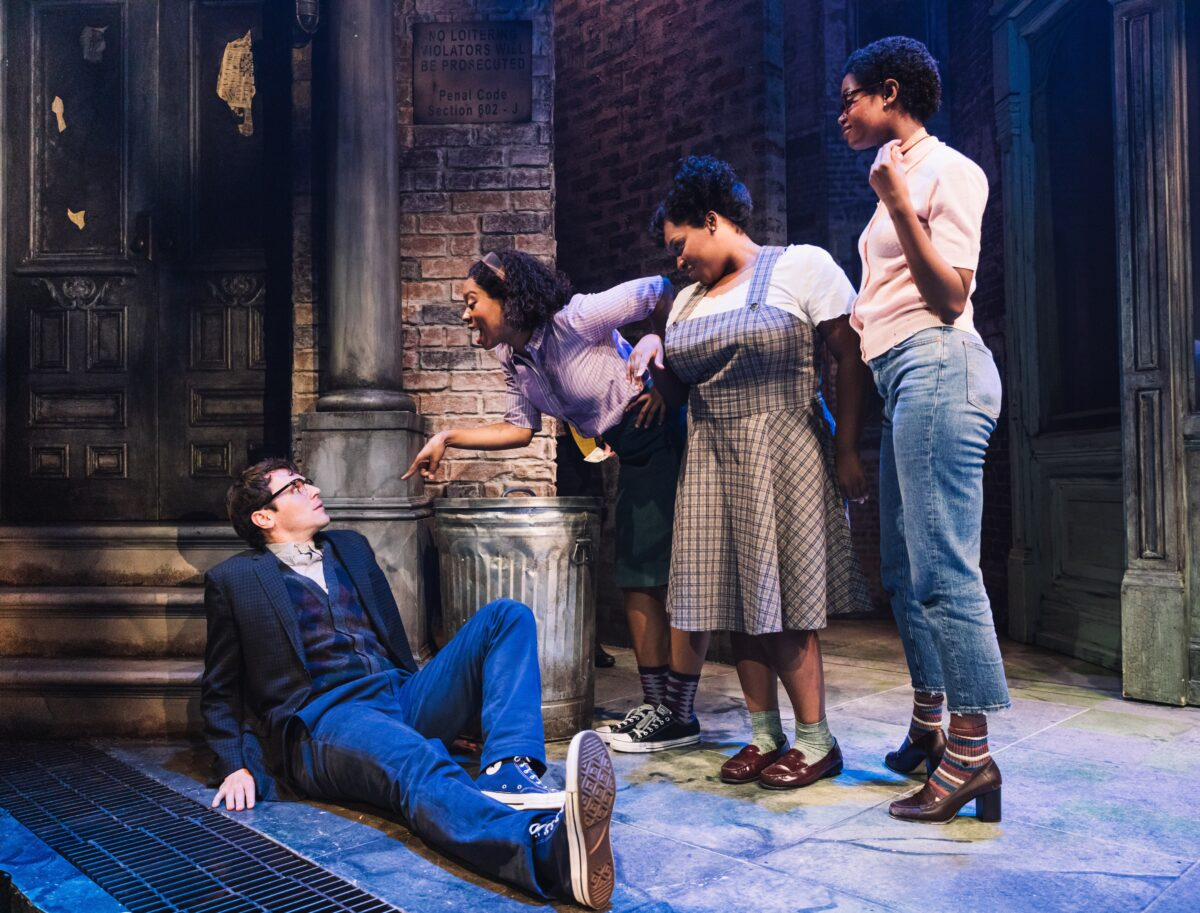Jonathan Groff and the Urchins in Little Shop of Horrors