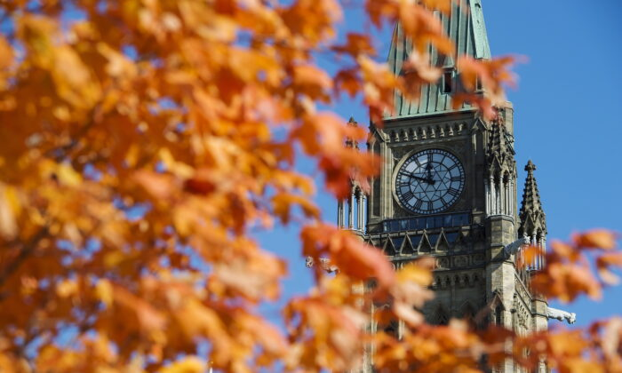 The Peace Tower on Parliament Hill in Ottawa on Oct. 23, 2019. (The Canadian Press/Sean Kilpatrick)