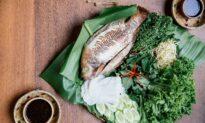 Grilled Fish With Tamarind Sauce (Trei Dut Teuk Ampil Tum)