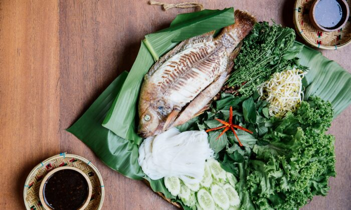 Grilled fish with tamarind sauce. (Nataly Lee)
