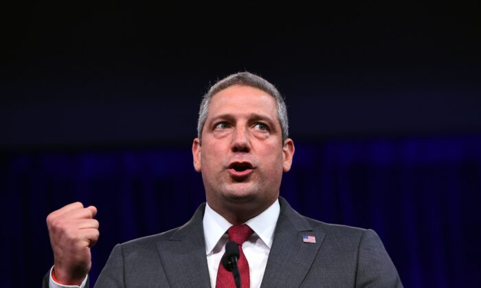 Democratic presidential candidate Rep. Tim Ryan (D-Ohio) speaks during the Democratic National Committee's summer meeting in San Francisco, California on Aug. 23, 2019. (Josh Edelson/AFP/Getty Images)