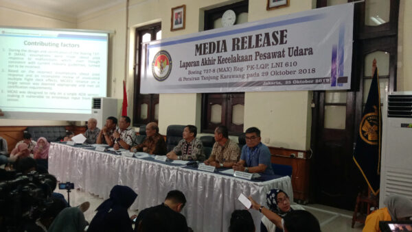 Lion Air crash final report news conference
