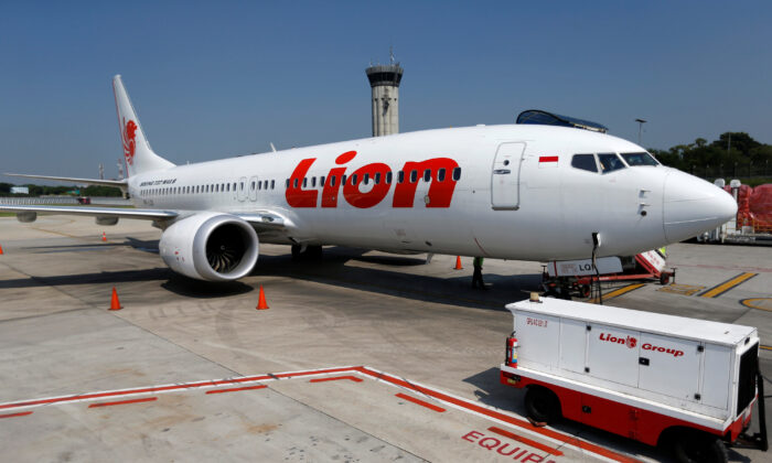 Lion Air's Boeing 737 Max 8 airplane is parked on the tarmac of Soekarno Hatta International airport near Jakarta, Indonesia on March 15, 2019. (Willy Kurniawan/Reuters)