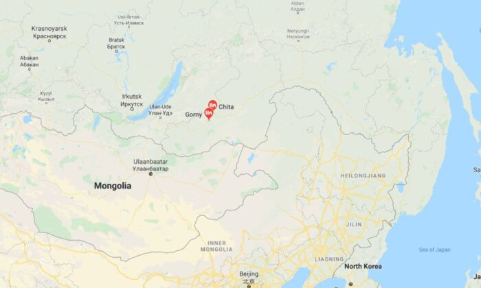Officials said the shooting took place in the village of Gorny in Chita, located near the Russian-Chinese border, in theTransbaikal region (Google Maps)