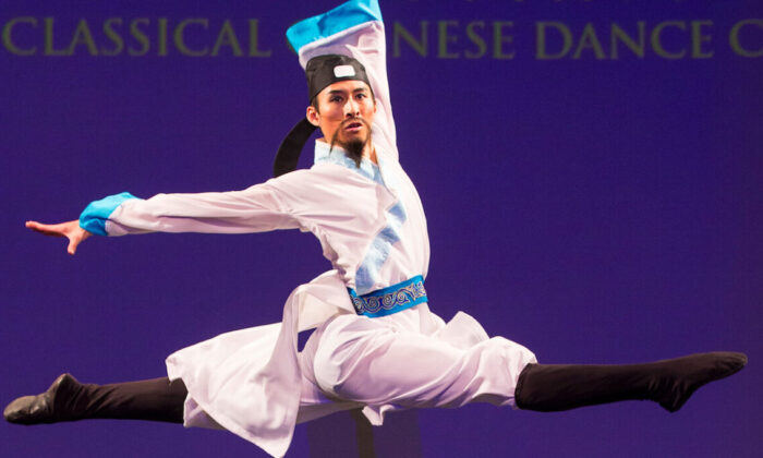 Shen Yun dancer Jay Huang placed first in the adult male division of New Tang Dynasty Television's 2016 International Classical Chinese Dance Competition. (Dai Bing/The Epoch Times)