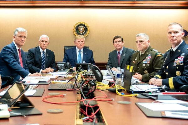 Trump Watches Raid On Abu Bakr al-Baghdadis Compound