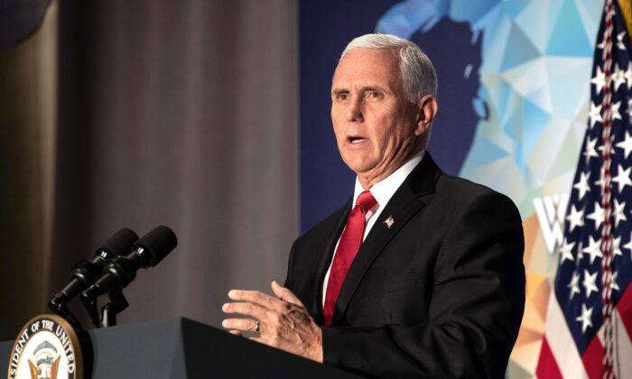 Vice President Mike Pence speaks on the future of the U.S. relationship with China at the 