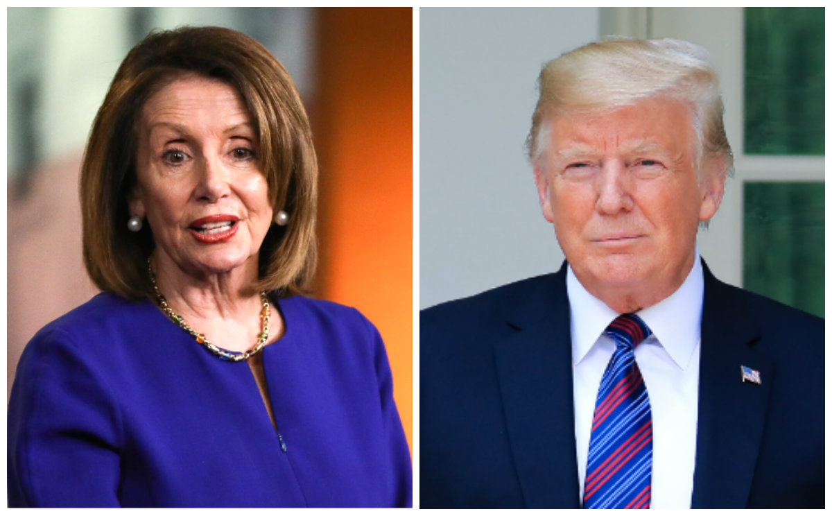 Pelosi and Trump