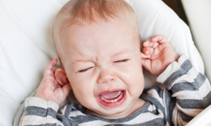 Ear infections can often be prevented by tending to babies' and toddlers' immune systems. (Sokolova Maryna/Shutterstock)
