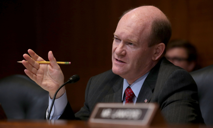 Sen. Chris Coons (D-Del.) in a file photograph. (Chip Somodevilla/Getty Images)