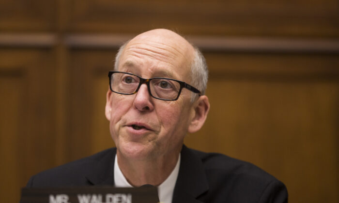 House Energy and Commerce Ranking Member Greg Walden (R-Ore.) speaks during a hearing in Washington on April 2, 2019. Walden is retiring after the current term, he said on Oct. 28, 2019. (Zach Gibson/Getty Images)