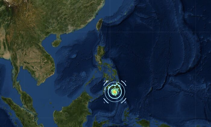 6.6 magnitude earthquake its central Mindanao in the southern Philippines on Oct. 29, 2019. (USGS)