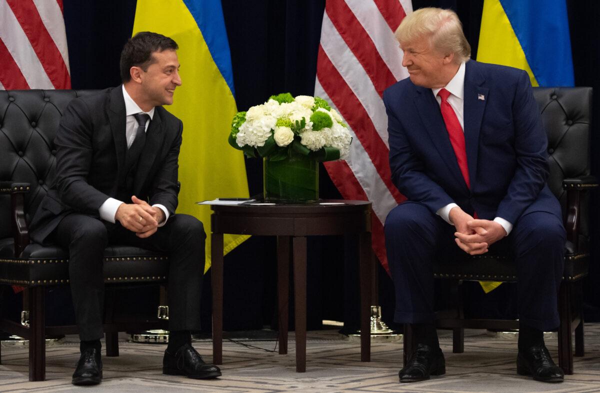 U.S. President Donald Trump and Ukrainian President Volodymyr Zelensky