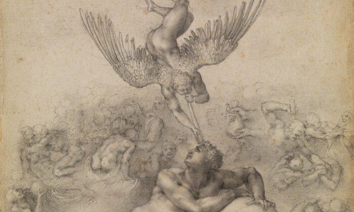 The Dream (Il Sogno), circa 1533, Michelangelo Buonarroti