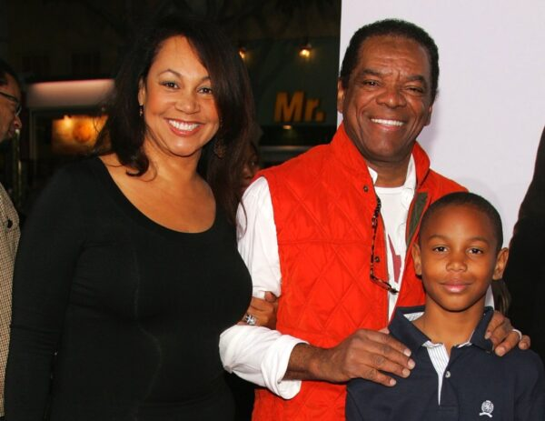 Actor John Witherspoon, wife and son