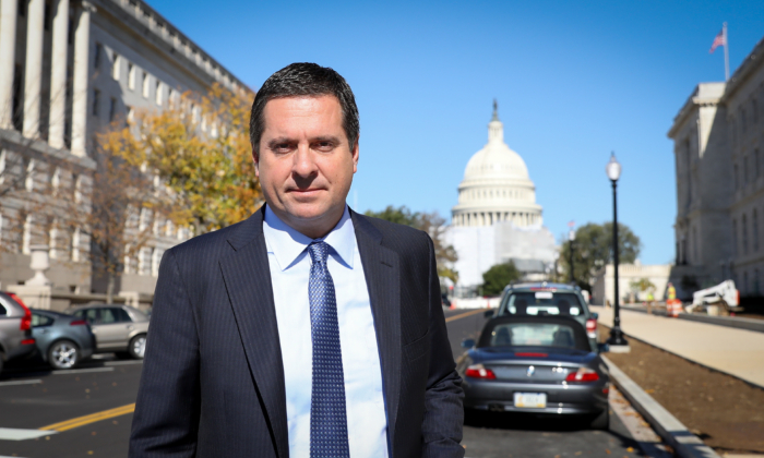 Rep. Devin Nunes (R-Calif.), ranking member of the House Intelligence Committee, in Washington on Oct. 28, 2019. (Samira Bouaou/The Epoch Times)