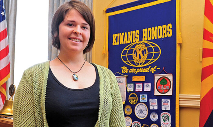 Kayla Mueller is shown after speaking to a group in Prescott, Ariz., in a file photo. (The Daily Courier, Matt Hinshaw/AP)