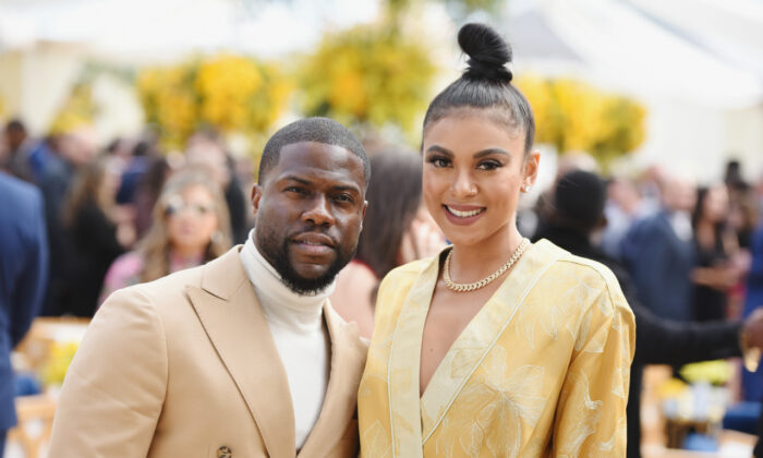 Kevin Hart and Eniko Parrish in Los Angeles, Calif., on Feb. 9, 2019. (Vivien Killilea/Getty Images for Roc Nation)