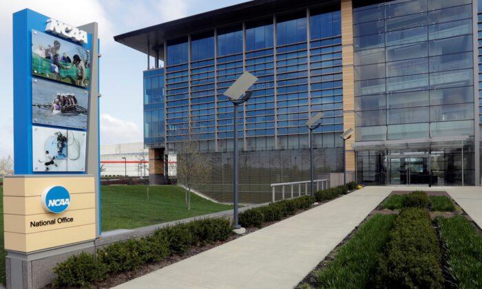 NCAA headquarters in Indianapolis on April 25, 2018. (Darron Cummings/AP Photo)