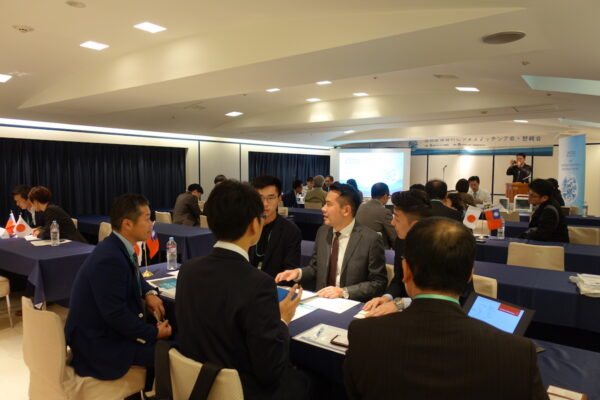 1. Warm interaction in the matching fair between Japanese and Taiwanese manufacturers