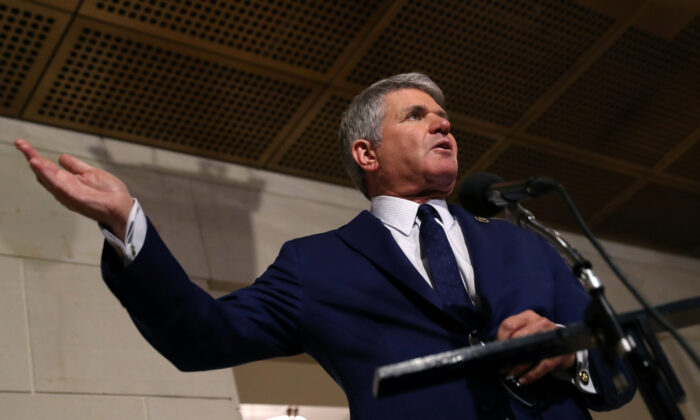 U.S. Rep. Michael McCaul (R-TX) speaks to the media before listening to the testimony of George Kent to the U.S. House of Representatives impeachment inquiry into U.S. President Trump on Capitol Hill in Washington, D.C. on Oct. 15, 2019. (Leah Millis/Reuters)
