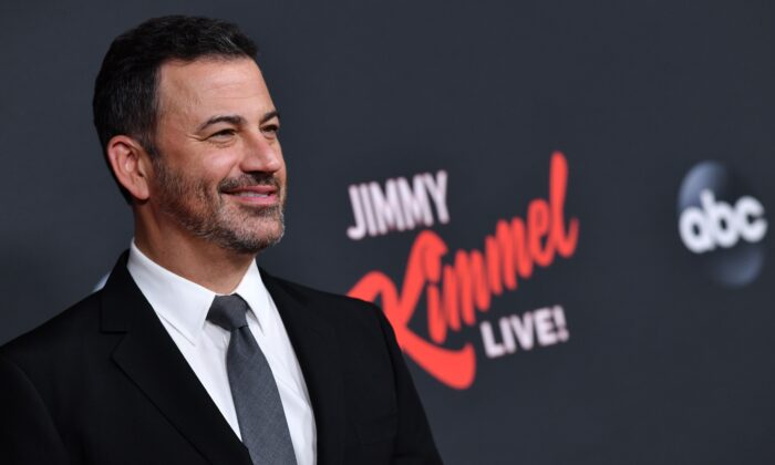 "Jimmy Kimmel arrives for ""An Evening With Jimmy Kimmel"" at the Roosevelt hotel in Hollywood on Aug. 7, 2019. (Chris Delmas/AFP/Getty Images)"