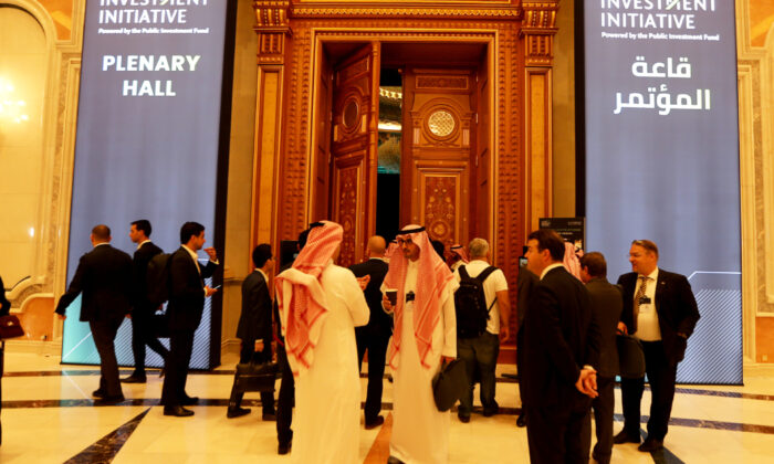 Participants are seen during the Future Investment Initiative conference in Riyadh, Saudi Arabia, Oct. 29, 2019. (Hamad I Mohammed/Reuters)
