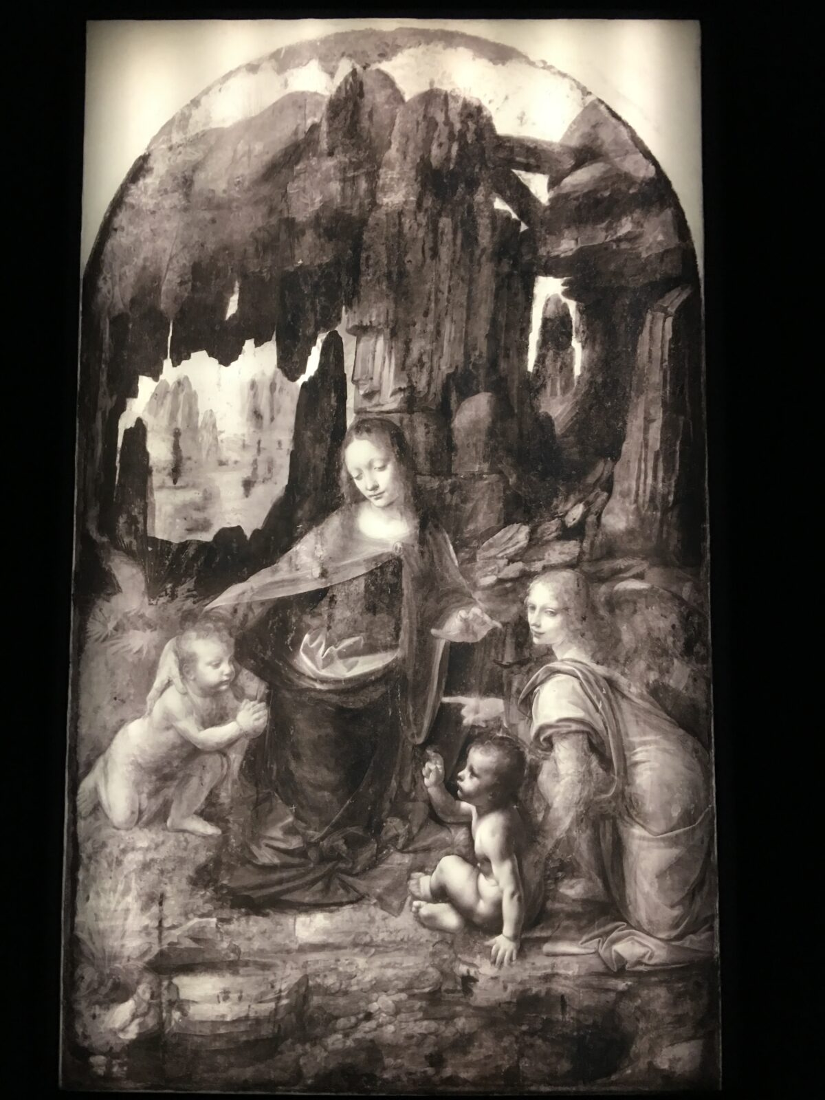 Infrared Reflectography of the Virgin of the Rock