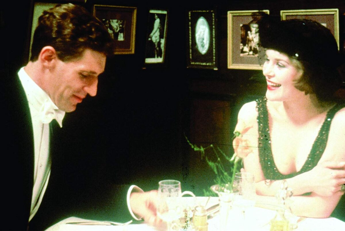 man and woman at dinner
