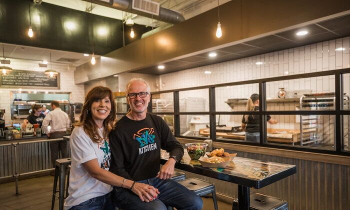 Robert and Diane Perez are the owners of DV8 Kitchen. The restaurant employs those who are in recovery from substance abuse. (Courtesy of DV8 Kitchen)