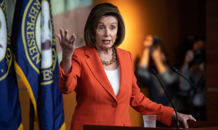 Speaker of the House Nancy Pelosi speaks during her weekly press conference on Capitol Hill on Oct. 31, 2019 in Washington. (SAUL LOEB/AFP via Getty Images)