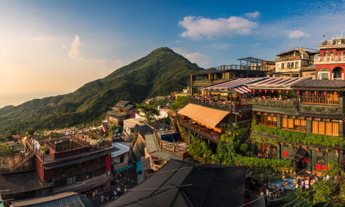 Jiufen, a town tucked into the mountains. (Shutterstock)