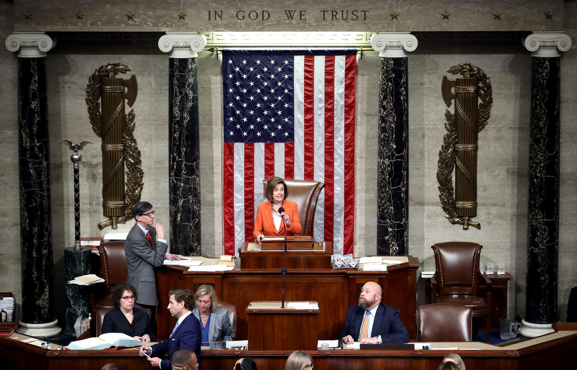 Pelosi presides over vote