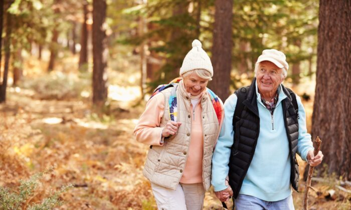 Walking is an easy way to get moving and enjoy anti-aging benefits. (Monkey Business Images/Shutterstock)