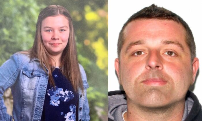 Isabel Hicks, 14, has been found safe and Bruce Lynch, 34, is in custody on Oct. 31, 2019. (Amber Alert via FBI)