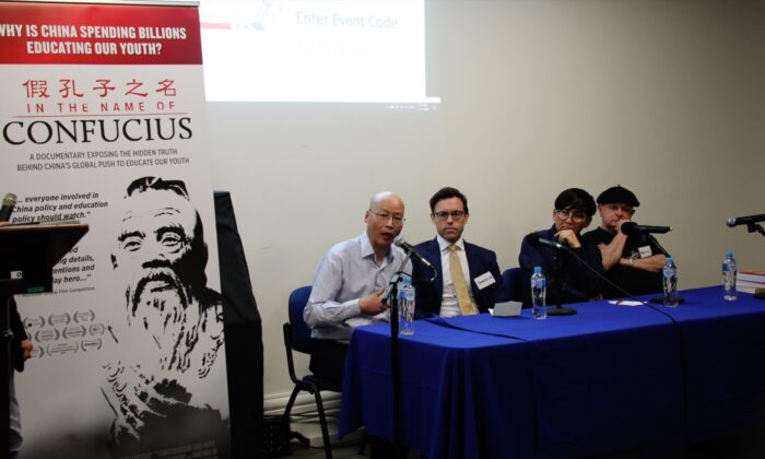 A panel of experts discuss CCP infiltration into Australian universities and schools via the Confucius Institutes in Melbourne, Australia on 31 Oct. 2019. (Grace Yu/Epoch Times)