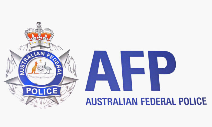 Australian Federal Police logo. (Scott Barbour/Getty Images)