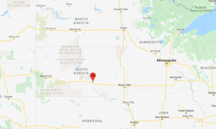At least nine people died and several more were injured in a plane crash in South Dakota on Saturday, according to news reports. (Google Maps)