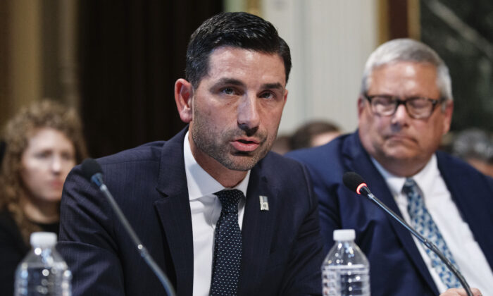 Department of Homeland Security official Chad Wolf speaks in Washington on Oct. 29, 2019. (Alex Brandon/AP Photo)