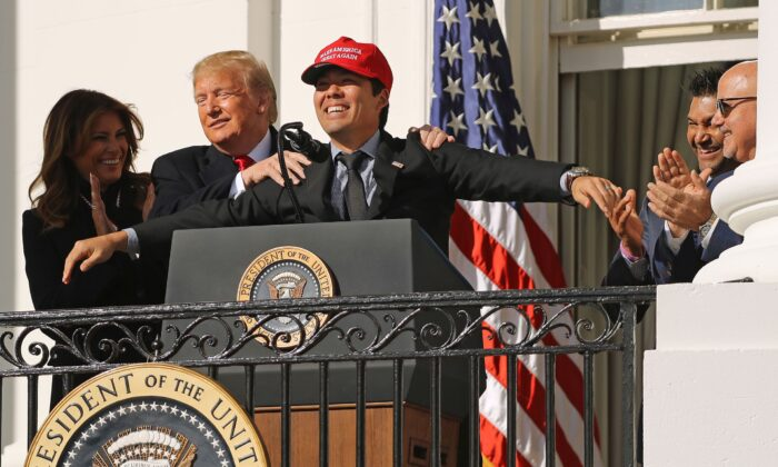 Image result for Nationals Catcher Kurt Suzuki Surprises Trump, Wears MAGA Hat to White House