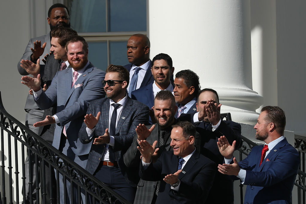 Trump hugs it out with Suzuki during Nats' visit