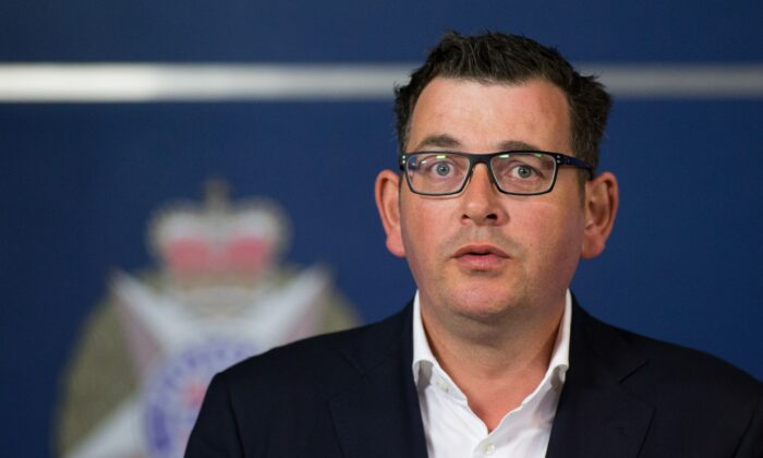 Victoria's state premier, Daniel Andrews, speaks during a press conference in Melbourne on Dec. 21, 2017. (Mark Peterson/AFP via Getty Images)
