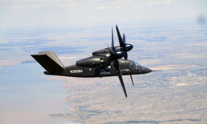 The Bell V-280 Valor participated in flight tests in Amarillo, Texas, in July 2018.  (Photo courtesy of Bell)