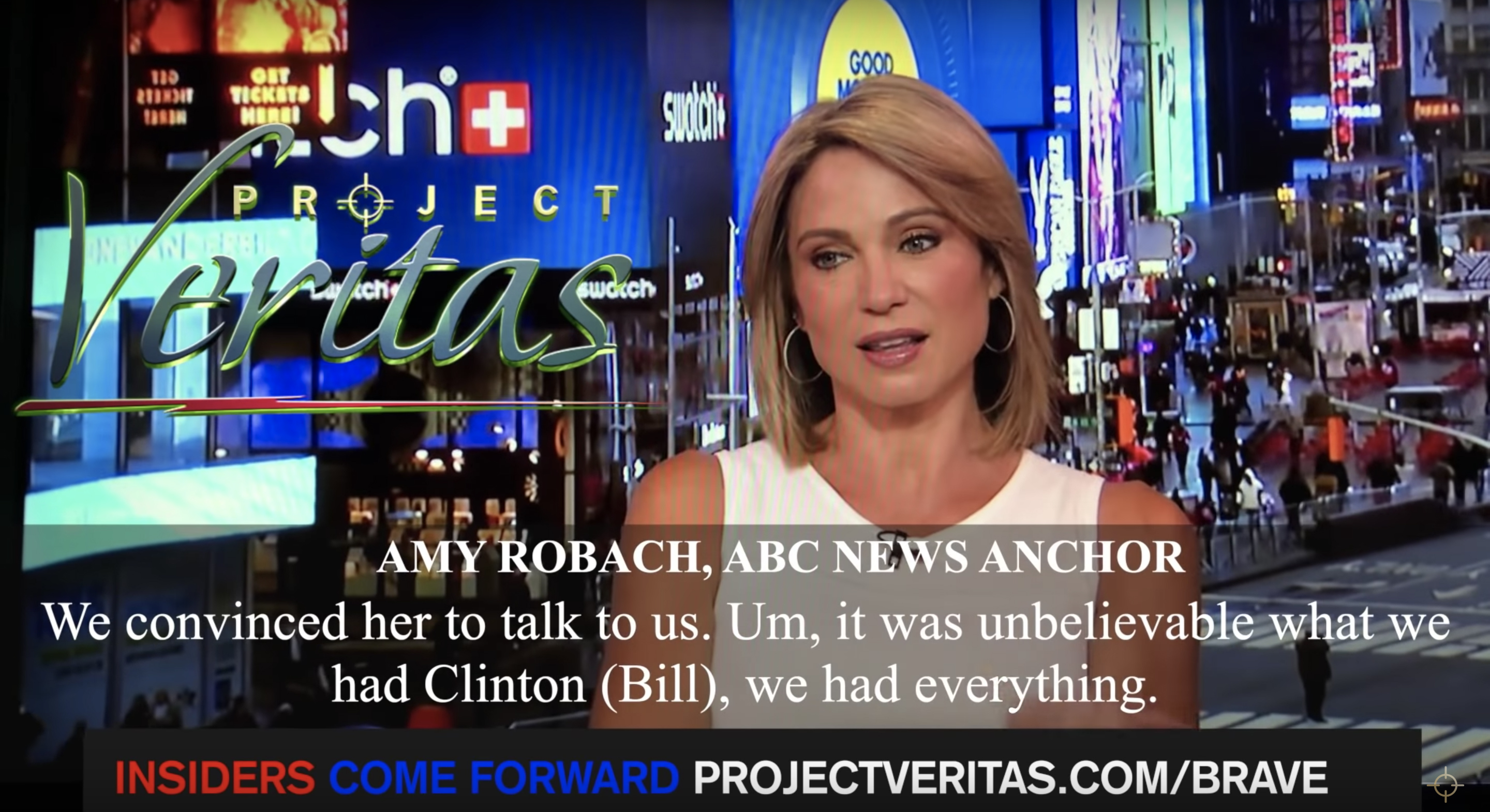 ABC's Amy Robach claims on hot mic that the network killed Epstein story 3 years ago, in a video released by Project Veritas. (Screenshot/Project Veritas)