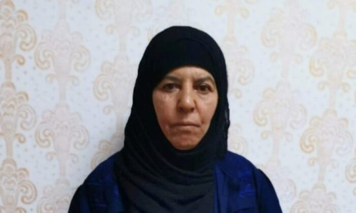 Rasmiya Awad, believed to be the sister of slain ISIS leader Abu Bakr al-Baghdadi, who was captured on Monday in the northern Syrian town of Azaz by Turkish security officials, is seen in an unknown location in an undated picture provided by Turkish security officials. (Turkish Security Officials/Handout via Reuters)