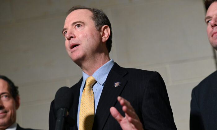 House Intelligence Chairman Adam Schiff (D-Calif.) speaks to reporters in Washington on Oct. 28, 2019. (Erin Scott/Reuters)