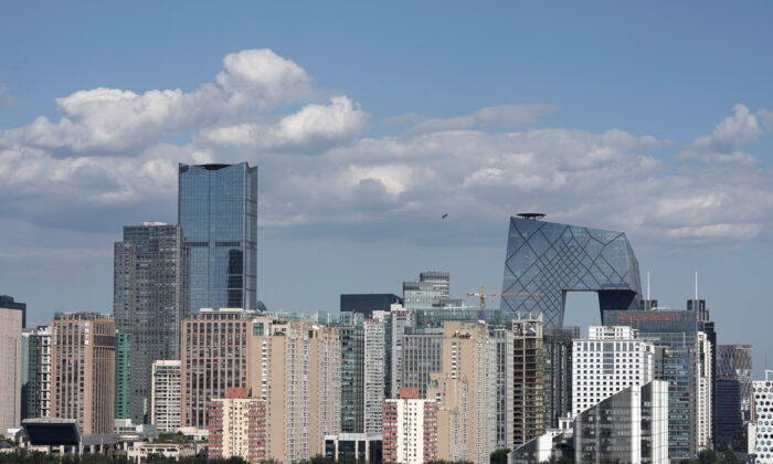 The skyline of Beijing's central business district on a sunny day, in China, on Sept. 7, 2018. (Jason Lee/Reuters)